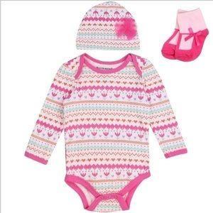 🎁Baby Girl's Pink Onesie Hat Tutu & Socks Outfit